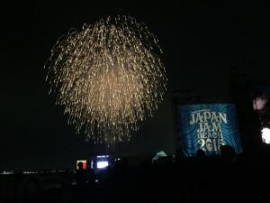 JAPAN JAM BEACH 2015の花火